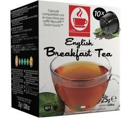 Caffè Bonini English Breakfast black tea pods for Dolce Gusto x 50