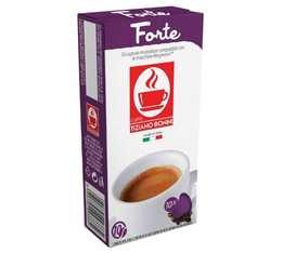 Capsules compatibles Nespresso® Forte x10