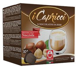 10 x iCapricci Chocolate Hazelnut capsules compatible with Nespresso®
