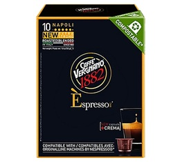 Capsules compostables compatibles Nespresso® Napoli x 10 - Caffe Vergnano