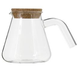 Carafe en verre E&B Lab 800ml avec bouchon liège