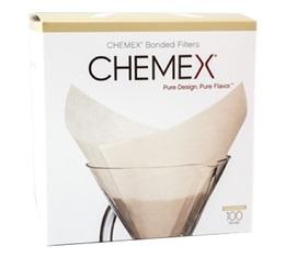 CHEMEX - 100 filtres blancs pour cafetière 6 à 8 tasses