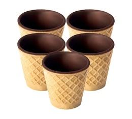 Boite de 5 tasses mini en gaufre et chocolat - Chocup Mini