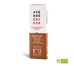Tablette Chocolat au Lait Pépites caramel & sel de Guérande Bio 40g - Carré Suisse