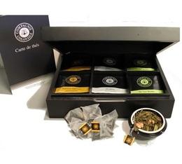 Tea tasting pack in wooden box - 6 x 48 berlingo tea bags - Compagnie Coloniale