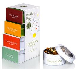 Tea gift box - 'Une Journée de Thé' - 4 x 30g mini tins - Palais des Thés