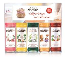 Coffret sirops pour Pâtisseries - Mignonnettes de sirop Monin - 5 x 5 cl