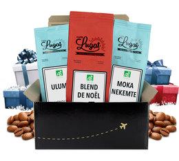 Coffret de Noël - 3 cafés bio en grains x250g - Cafés Lugat
