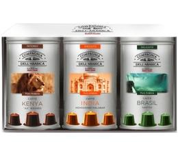 Caffè Corsini discovery pack: 30 pure origin coffee capsules for Nespresso - 3x10