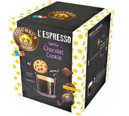 Columbus Café & Co Chocolate Cookie-flavoured coffee capsules for Dolce Gusto x 16