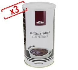 Lot de 3 boîtes de Chocolat en poudre Noir 3x1 kg - Caffè Mauro