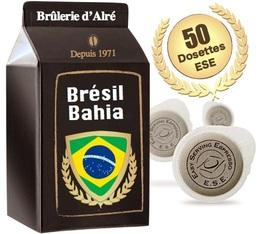 50 dosettes ESE Brésil Bahia 100 % Arabica - Brûlerie d'Alré