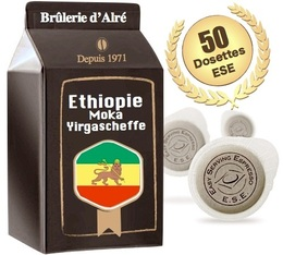 50 dosettes ESE Moka Ethiopie Yrgacheffe 100 % Arabica - Brûlerie d'Alré