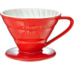 Tiamo V02 4-cup coffee dripper in red