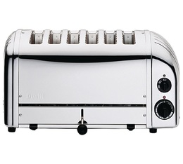 Toaster Classic 6 larges fentes Inox - Dualit + Pince à toast