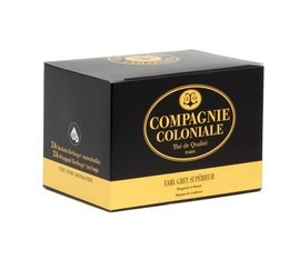 'Earl Grey Supérieur' black tea with flowers x 48 individually-wrapped berlingo tea bags - Compagnie Coloniale