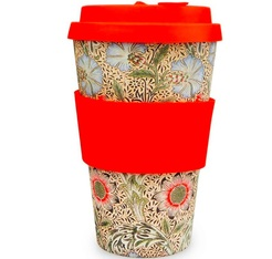 Reusable Mug Ecoffee cup Corncockle 40 cl - William Morris limited edition