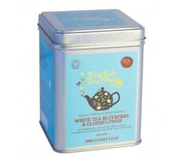 Boite métal Thé blanc aux fleurs de sureau et myrtilles bio - White Tea Blueberry and Elderflower - 100g- English Tea Sh