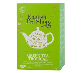 Thé Vert Tropical bio - 20 sachets fraicheurs - English Tea Shop