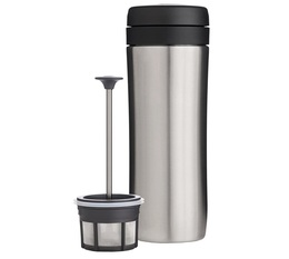 Mug à piston isotherme Travel Press inox brossé 35cl - Espro