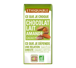 Mini tablette chocolat Lait Amande 30g - Ethiquable