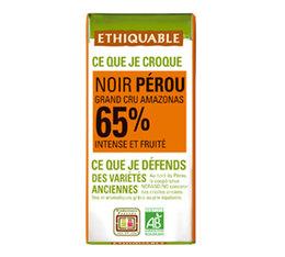 Mini tablette chocolat Noir Perou 65% 30g - Ethiquable