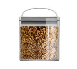 Boîte conservatrice en plastique avec vide d'air EVAK M basse 1L - Prepara