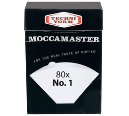 80 x N°1 paper filters for Moccamaster Cup One