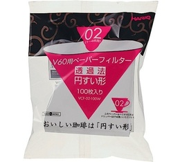 Filtre papier conique pour dripper v60 VDC-02 Hario (Japon) x100