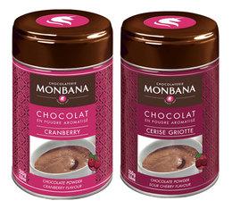 Pack fruits rouges Chocolat en poudre aromatisé 2x250g - Monbana