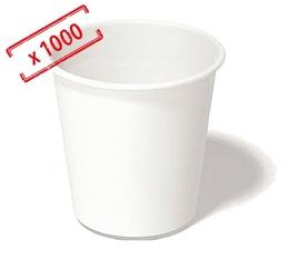 1000 Gobelets café blanc 12cl - Sélection Maxicoffee