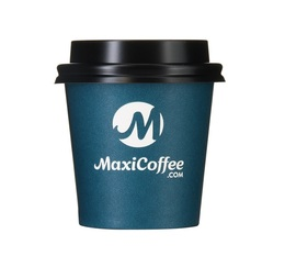 Lot de 50 Gobelets MaxiCoffee 12 cl + Couvercles Noirs