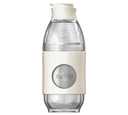 Cafflano Go-Brew portable brewing bottle in ivory white