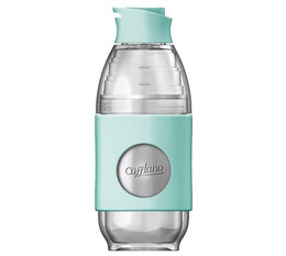 Cafflano Go-Brew portable brewing bottle in mint green
