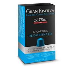 Capsules Gran Riserva Décafféiné x10 - Caffè Corsini pour Nespresso
