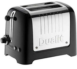 Toaster NewGen Lite 2 fentes noir et inox - Dualit