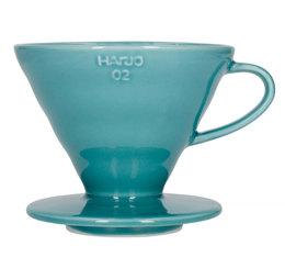 Dripper Hario V60 VDC-02 conique turquoise 4 tasses