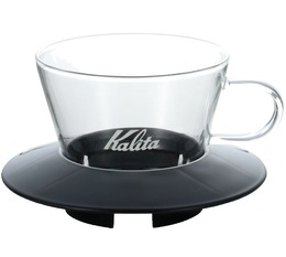 2-Cup Kalita Wave Dripper 155 in black/glass