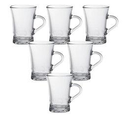 DURALEX Amalfi glass cups with handle - 6 x 170ml