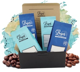 Coffret Blend Cafés Lugat (4 cafés en grains x 250g)