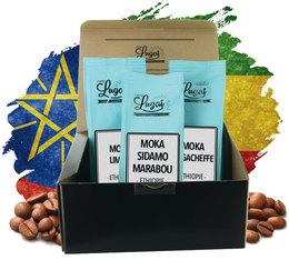 Coffret Evasion Ethiopie - 3 cafés grains x 250g - Cafés Lugat
