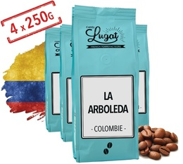 Cafés Lugat - La Arboleda coffee beans from Colombia - 1kg