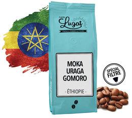 Cafés Lugat 'Moka Uraga Gomoro' coffee beans from Ethiopia - 250g
