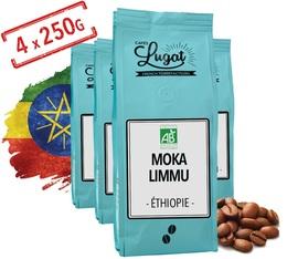 Café en grains Bio : Ethiopie Moka Limmu - 1kg - Cafés Lugat