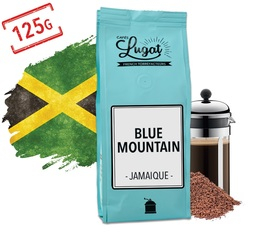 Ground coffee for French press coffee makers: Blue Mountain - Jamaica - 125g - Cafés Lugat