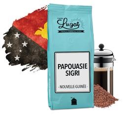 Café moulu pour cafetière à piston : Nouvelle-Guinée - Papouasie Sigri - 250g - Cafés Lugat