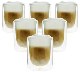 PYLANO set of 6 'Mila' double wall cappuccino glasses - 250ml