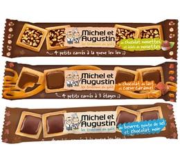 Pack de 3x4 petits carrés au chocolat - Michel et Augustin