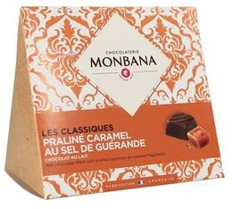 Chocolats Les Classiques - Chocolat au lait et caramel sel de Guérande - Monbana
