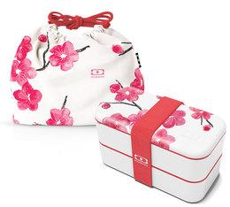 Pack Lunch box 1L + Pochette MB Original Blossom - Monbento